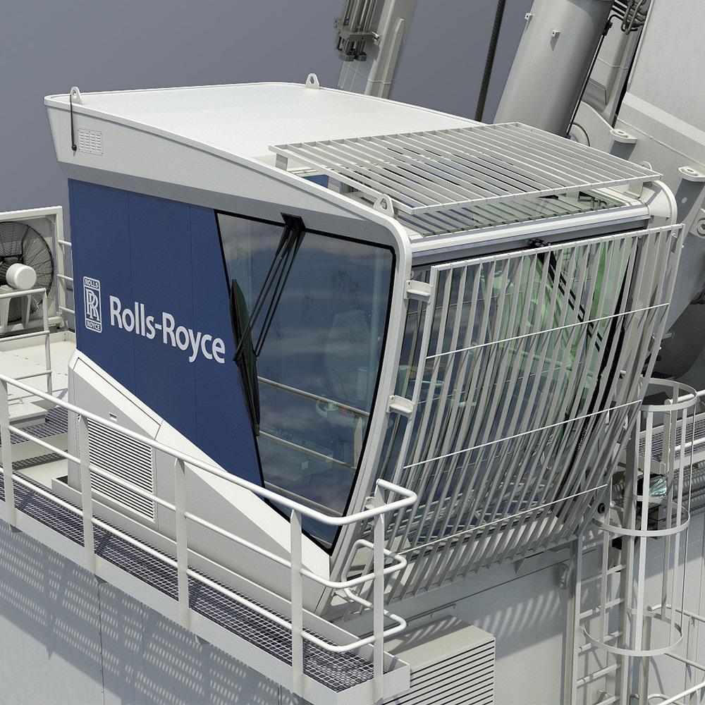 Dual Draglink Crane